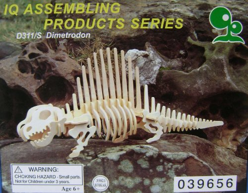Picture of SmartBuy Dimetrodon Wooden Assembling Dinosaur Puzzle Sculpture - Interlocking wood pieces (B00565167K) (3D Puzzles)