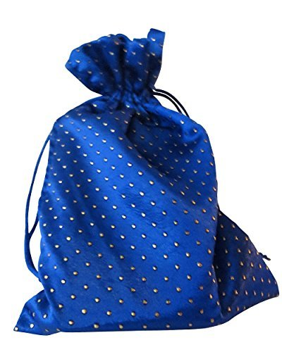 "Tarot Bags: Blue 6"" X 9"" Satin Pearl"