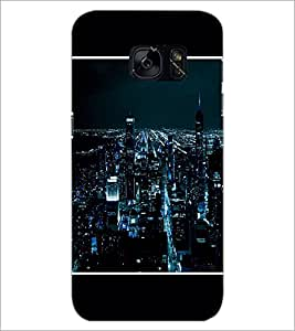 PrintDhaba Lightning City D-1275 Back Case Cover for SAMSUNG GALAXY S7 (Multi-Coloured)