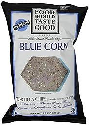 Food Should Taste Good, Tortilla Chips, Blue Corn, 5.5 oz