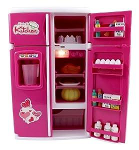 Dream kitchen refrigerator pink toy mini for Kitchen set toys amazon