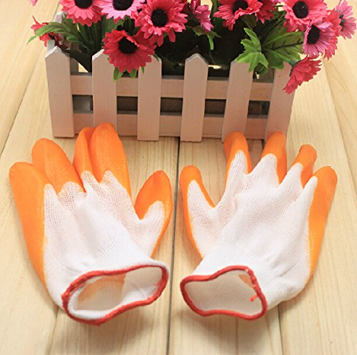 Nylon Nitrile Rubber Gardening Gloves Labor Safety Working Gloves front-113996