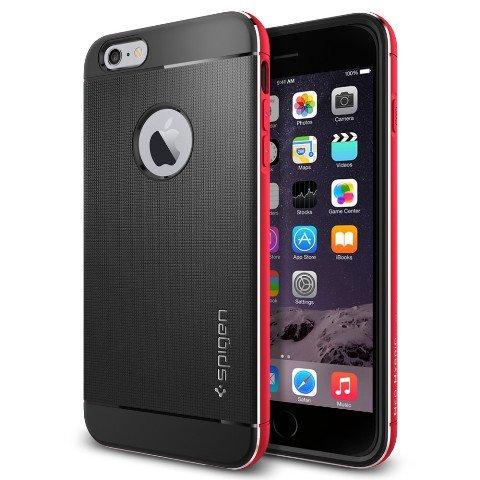 iPhone 6 Plus ケース, Spigen® [アルミニウム バンパー] ネオ・ハイブリッド メタル Apple iPhone (5.5) アイフォン 6 プラス カバー (国内正規品) (メタル・レッド SGP11073)