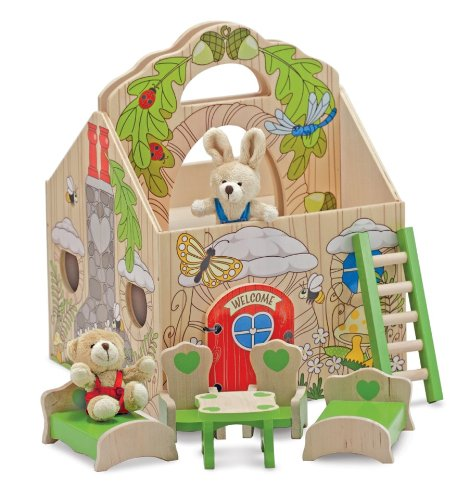 510idBls9VL Cheap Price Melissa & Doug Fold & Go Woodland Treehouse