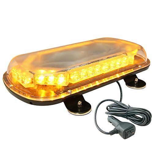 Lamphus Solarblast 34W Led Construction Tow Truck Security Patrol Vehicle Strobe Warning Mini Light Bars ( Other Color Available ) - Amber