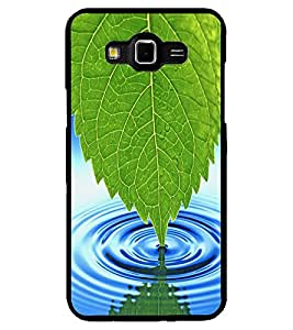 ColourCraft Leaf and Water Design Back Case Cover for SAMSUNG GALAXY GRAND 3