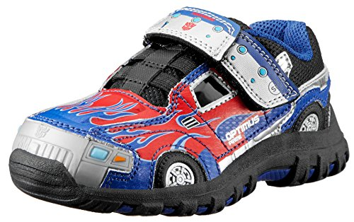 Stride Rite Transformers Optimus Prime Lighted Shoe (Infant/Toddler/Little Kid),Blue/Red,11 M Us Little Kid