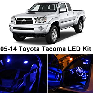 Ledpartsnow Toyota Tacoma 2005 2015 Blue Premium Led Interior Lights Package Kit 7