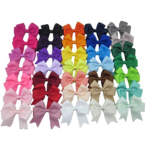 xima-35pcs-3ribbon-cheer-bow-boutique-baby-girl-ribbon-hair-bows-with-alligator-clip