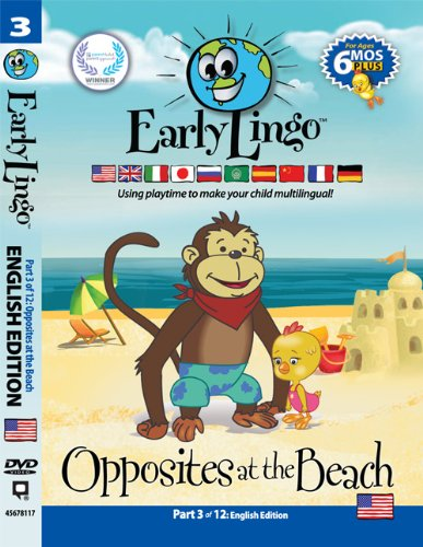 Early Lingo Opposites at The Beach DVD (Part 3 English)
