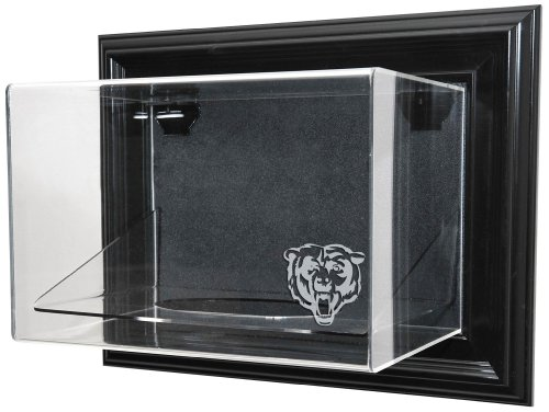 "Nfl Chicago Bears Football ""Case-Up"" Display - Black With Museum Quality Uv Upgrade"
