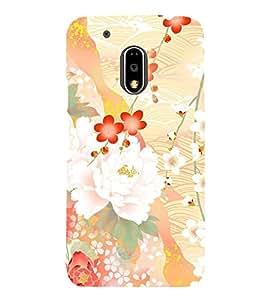 Floral Abstract Design 3D Hard Polycarbonate Designer Back Case Cover for Motorola Moto G4 Plus :: Moto G4+ :: Moto G4