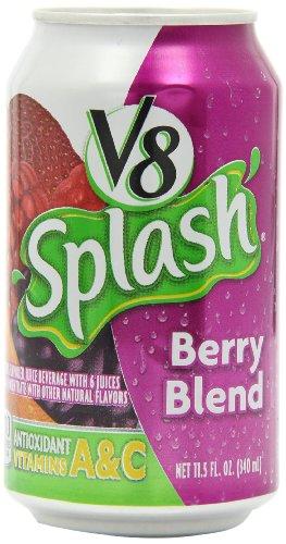 V8 Splash Berry Blend Juice Drink, 11.5 Ounce Can (Pack Of 24)