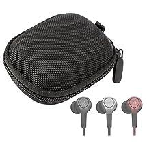 DURAGADGET Hard EVA Protective Storage Case / Bag for Headphones & Earphones in Black For Bang & Olufsen B&O H3