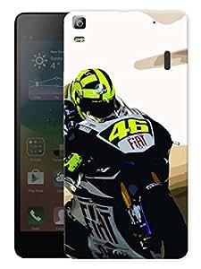 "Humor Gang Rosso Motogp Printed Designer Mobile Back Cover For ""Lenovo K3 Note - Lenovo A7000 - Lenovo A7000 Plus - Lenovo A7000 Turbo"" (3D, Matte Finish, Premium Quality, Protective Snap On Slim Hard Phone Case, Multi Color)"