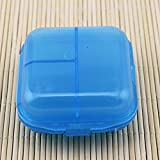 BestOfferBuy Kompakte Runde Pillen Box Organizer Vier...