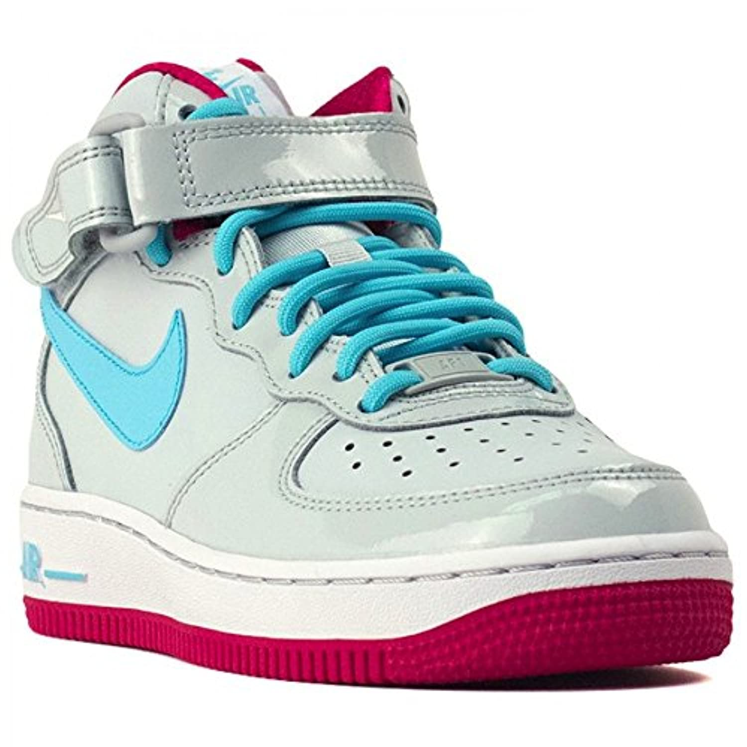nike air force 1 mid gs youth grey blue pink size 6 big. Black Bedroom Furniture Sets. Home Design Ideas