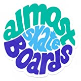 Almost Skateboard 'Hippy' Sticker Green/Blue