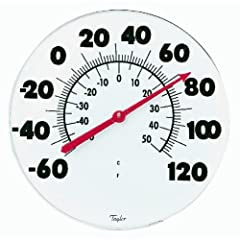 Outdoor Thermometer with Large Numbers