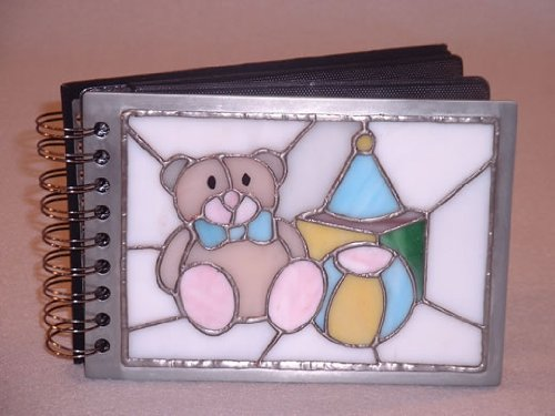 Stain Glass Teddy Bear Baby Photo Album