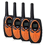 Floureon® 2 Pares M-880 Walkie Talkies 8 Canales UHF400-470MHZ 2-Vías Radio 3KM Rango Intercom