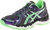 Asics - Womens Running Gel-Kayano19 Shoes In Blk/Neon Lime/Prpl, Size: 7 B(M) US Womens, Color: Blk/Neon Lime/Prpl
