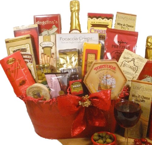Delight Expressions™ Christmas Cheer Holiday Christmas Gourmet Food Gift Basket