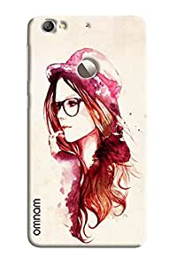 Omnam Girl Painted With Cap And Googles Deigner Back Cover Case for LeTv Le 1s