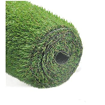 GOLDEN MOON 6.5ftx10ft Series PE Indoor/Outdoor Green Decorative Synthetic Artificial Grass Turf Area Rug 1.4 Inch Pile Height, 6.5x10, 1.4""