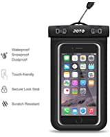 """Universal Waterproof Case, JOTO Cell Phone Dry Bag for Apple iPhone 6S 6,6S Plus, 5S 7, Samsung Galaxy S7, S6 Note 5 4, HTC LG Sony Nokia Motorola up to 6.0"""" diagonal (Black)"""