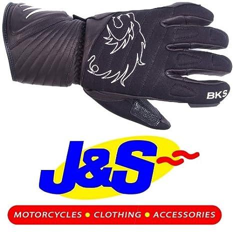 BKS York Gants de moto en cuir noir Gants de moto J & S