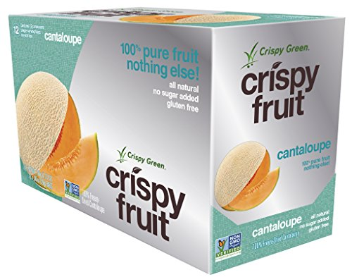 Crispy Green 100% All Natural Freeze-Dried Fruits, Cantaloupe,0.36 Ounce (12 Count) (Green Mango Fruit compare prices)