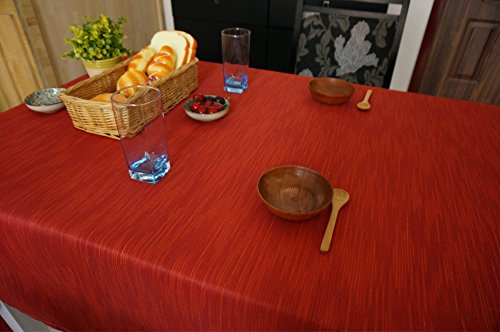 Kingmerlina Polyester Linen Waterproof Rectangle Pure Color Tablecloth Multi Sized
