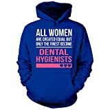 Finest Women Become A Dental Hygienists Funny Gift - Hoodie Royal Adult L
