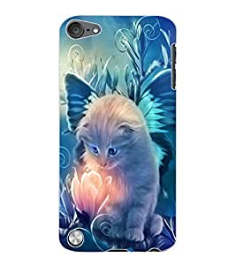 ColourCraft Lovely Angel Cat Design Back Case Cover for APPLE IPOD TOUCH 5