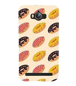 Printvisa Premium Back Cover Tricoloured Doughnut Pattern Design For Asus Zenfone Max ZC550KL