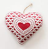 Blue Alcove Cotton Christmas Big Heart Decoration (White)