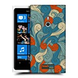 Head Case Blue And Orange Vivid Swirls Hard Back Case Cover For Nokia Lumia 800