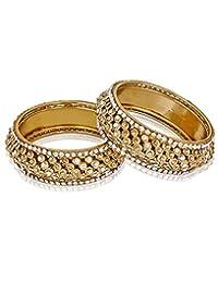Shining Diva Golden Bangles Set Of 2