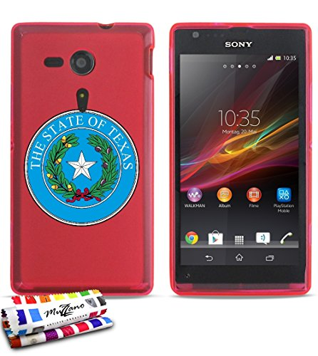 GENUINE Extra-Slim flexible Pink Case Seal Texas By MUZZANO for SONY XPERIA SP
