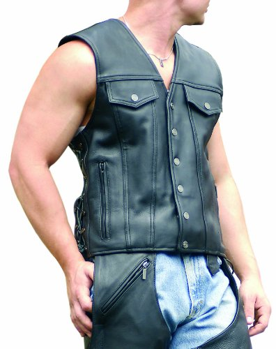 Milwaukee Motorcycle Clothing Company Men's Gambler Vest (Large)
