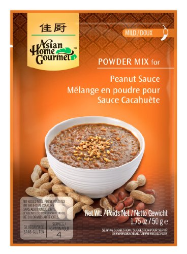 Asian Home Gourmet Peanut Sauce Mix, 1.75-Ounce Pouch (Pack of 12) (Mild Peanut Sauce compare prices)