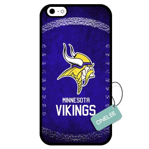 Onelee(Tm) - Customized Nfl Minnesota Vikings Team Logo Design Tpu Apple Iphone 6 Case Cover - Black 01