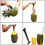 Stainless Steel Pineapple Corer Cutter Slicer Wedger Dicer Peeler Fruit Tool - cut pineapple quick and easy without a knife - includes One Year Warranty