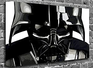 "Star Wars - Darth Vader Face Shot Film Motion Picture Canvas Art Canvas Print Print Picture Size: (40"" x 26"")"
