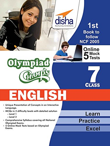 Olympiad Champs English Class 7 with 5 Mock Online Olympiad Tests