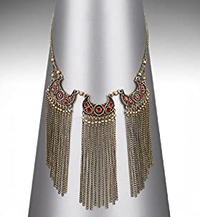 Limited Collection Athena Fringe Necklace - Marks & Spencer   Marks & Spencer
