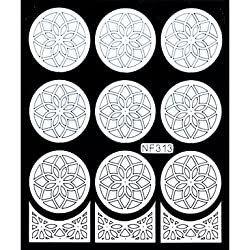 Generic Nail Art Template Sticker-Flower Template(NF313-WHITE) #05045529