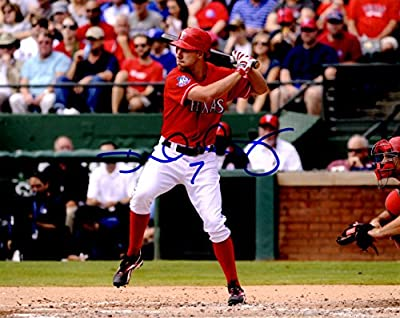 Autographed David Murphy 8x10 Texas Rangers Photo