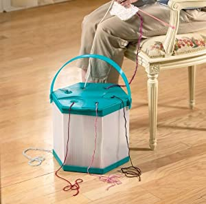 Portable Knitting Wool And Yarn Organizer By Collections Etc from Collections Etc